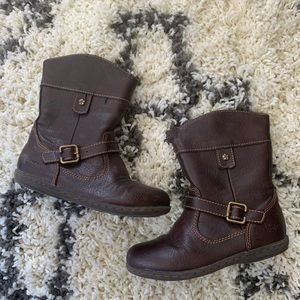 Brown riding boots for girls